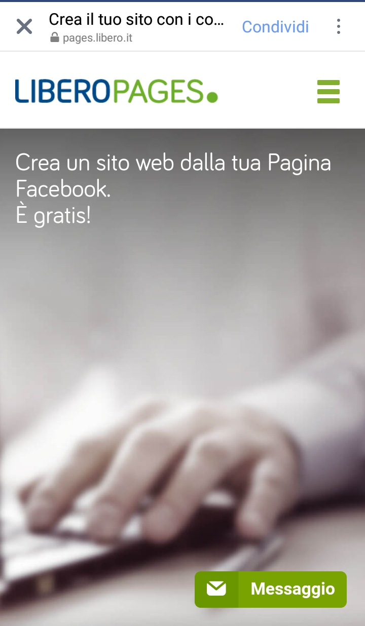 Libero page trasforma la tua pagina fan in un nuovo sito web